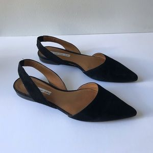 & Other Stories Suede Slingback Flats sz 39